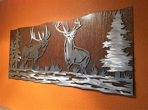 Best Collection Of Mountain Scene Metal Wall Art