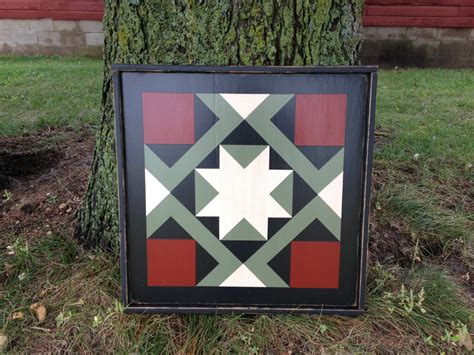 Painted Barn Quilts primitive painted barn quilt 3 x 3 magic