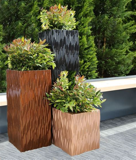Square Outdoor Planters by Grp Flexi Square Trough Planters From Potstore Co