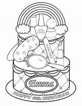 Coloring Pages Printable Nail Spa Makeup Polish Party Rainbow Cosmetic Cake Themed Personalized Getdrawings Print Favor Childrens Getcolorings Nailpolish Shopkins sketch template