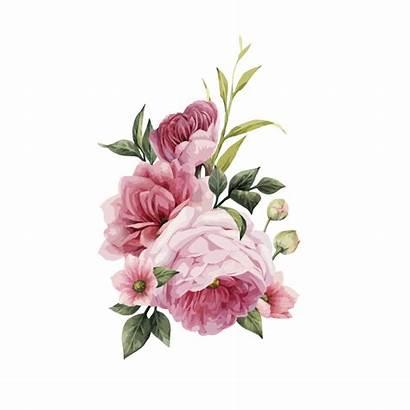 Flower Flowers Watercolor Bouquet Roses Clipart Invitation