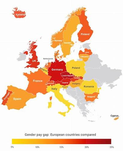 Countries Europe Worst Pay Across Gender Gap