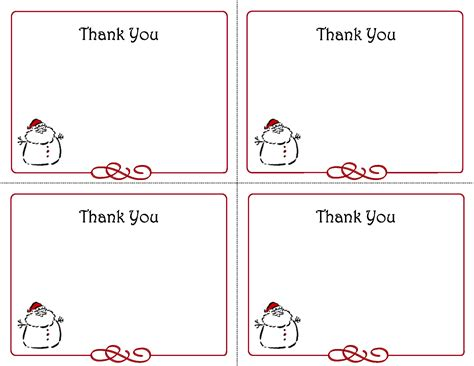 free note card template thank you notes templates activity shelter