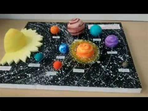 maqueta sistema planetario solar youtube