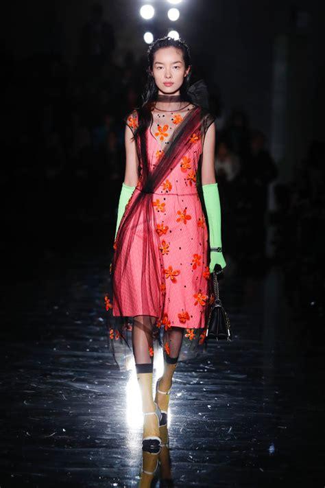 milan fashion week prada fall collection tom lorenzo
