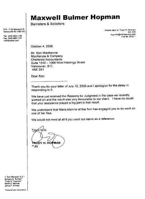sle recommendation letter for senior accountant