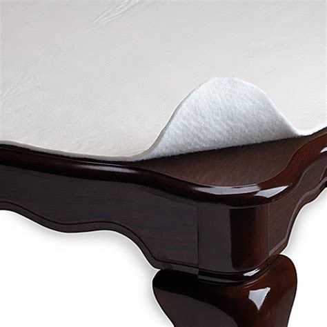 table pads at bed bath and beyond hotel deluxe vinyl table pad bed bath beyond