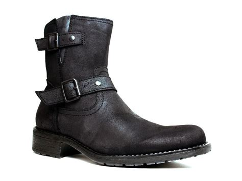 mens leather motorcycle boots marco ferretti mens urban casual motorcycle black leather