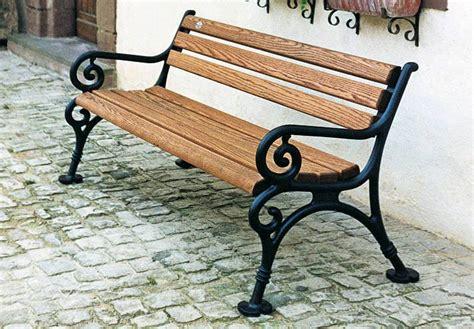 Gusseisen Und Holz by Gartenbank Gusseisen Parkbank Klassisch Holz Aus