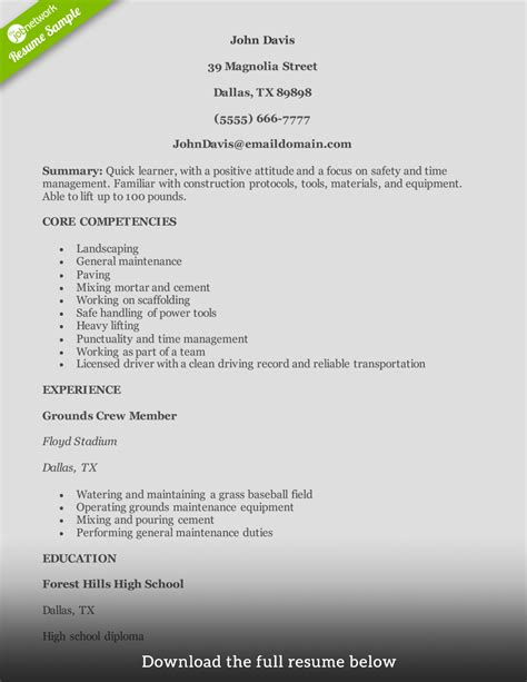 write  perfect construction resume examples included