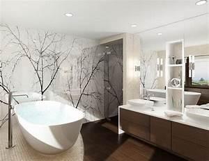 Moderne Wandgestaltung Bad : moderne b der ohne fliesen ~ Sanjose-hotels-ca.com Haus und Dekorationen