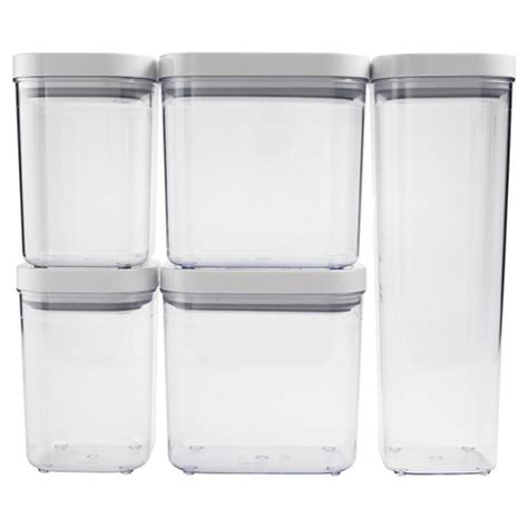 oxo kitchen storage containers oxo 5 pc food storage canister set clear target 3911