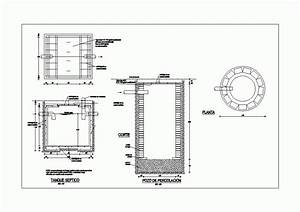 Septic Tank Dwg Detail For Autocad  U2022 Designs Cad
