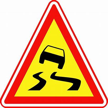 Road Slippery Traffic Sign Clipart Svg Korean