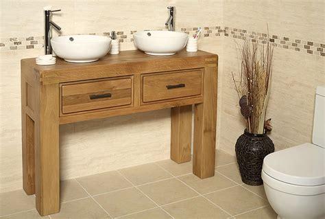 % Off Oak Double Vanity Unit With Basin