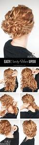 Super easy updo hairstyle tutorial for curly hair Hair Romance
