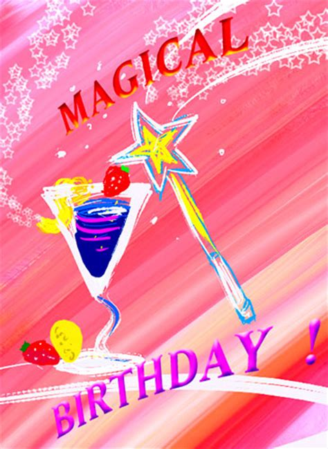 magical birthday cocktail wishes  birthday wishes ecards