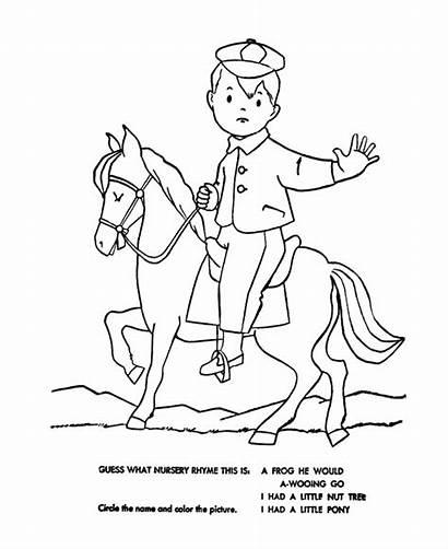 Nursery Rhymes Pony Coloring Had Quiz Pages
