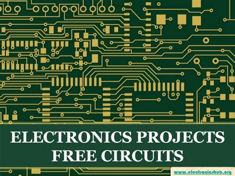 Free Electronics Projects Circuits Their Applications