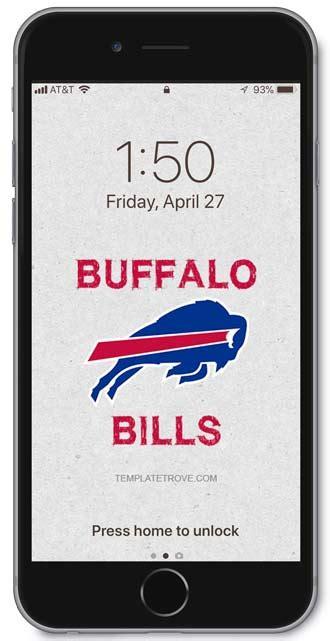 buffalo bills lock screen schedule  iphone