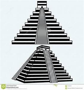 Pyramids In Central Mexico Stock Vector Image: 67323919