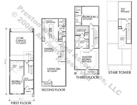 urban townhouse floor plans eurban loft home plans