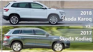 Skoda Karoq Dimensions : 2018 skoda karoq vs 2017 skoda kodiaq what is the difference technical comparison youtube ~ Medecine-chirurgie-esthetiques.com Avis de Voitures