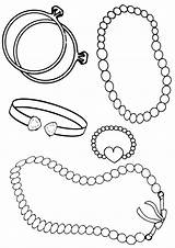 Coloring Pages Bracelet Beads sketch template