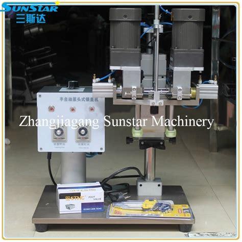 manual  semi automatic capping machine  trigger spraer pump cap  plastic screw caps