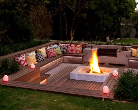 Setting Bench by Creative Fire Pit Designs And Diy Options
