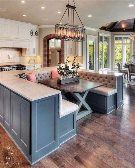 kitchen island with booth seating 1000 ideas about grey cabinets on gray 8238