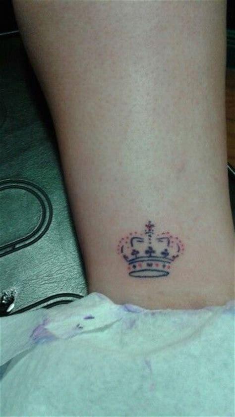 crown tattoo girl tattoo small tattoo ankle tattoo