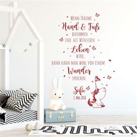Babyzimmer Gestalten Wandtattoos by Wandtattoo Babyzimmer Spruch Einhorn Zitat