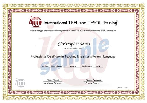 Tefl Certificate Template by Sle Certificate Number Gallery Certificate Design And