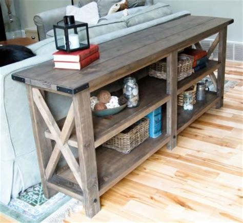 build a sofa table download plans rustic tv stand pdf plans wine rack