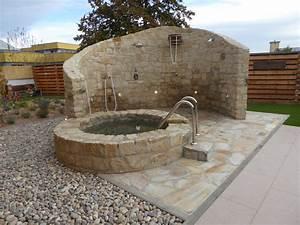 Tauchbecken Im Garten : au endusche und tauchbecken in sauna anlage pflegeleichte steinbeete von rheingr n ~ Sanjose-hotels-ca.com Haus und Dekorationen