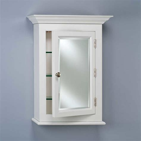 wall mounted medicine cabinet with mirror afina wilshire 22 quot wall mount mirrored medicine cabinet