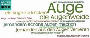 Grüne Augen Bedeutung : auge wortschatz redewendungen deutschtraining ~ Frokenaadalensverden.com Haus und Dekorationen