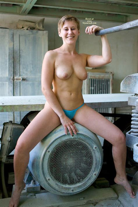 Topless Girl At Industrial Site March Voyeur Web
