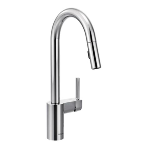 amazon com kitchen faucets moen 7565 align one handle high arc pulldown kitchen