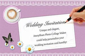 How to create wedding invitation card amoyshare photo for Online wedding invitation maker for friends