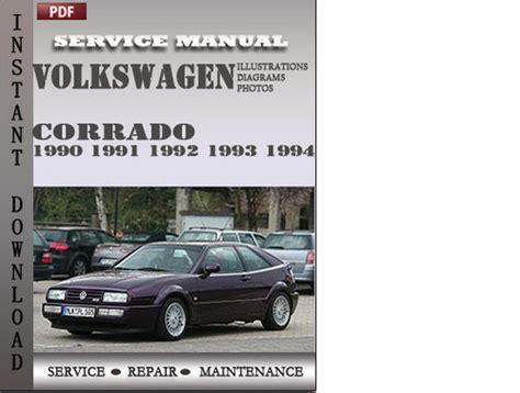 free car repair manuals 1990 volkswagen corrado regenerative braking volkswagen corrado 1990 1991 1992 1993 1994 factory service repair