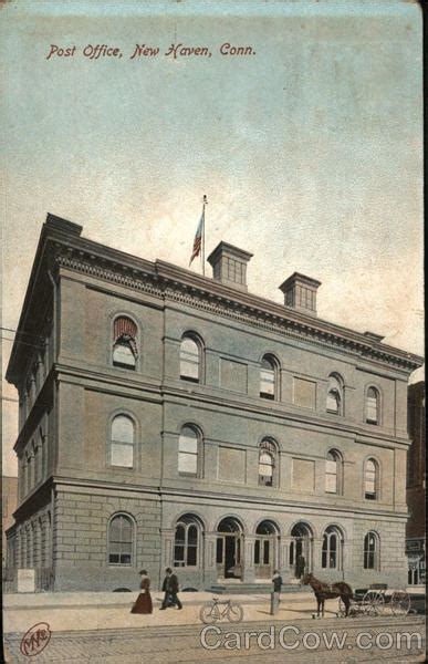 Post Office New Haven, Ct Postcard