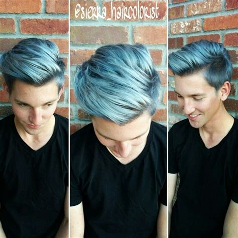 Blue Hair Dont Care Men Color Hair Too Lanza Color Mens