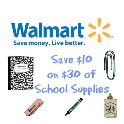 walmart 10 30 in school supplies coupon closet