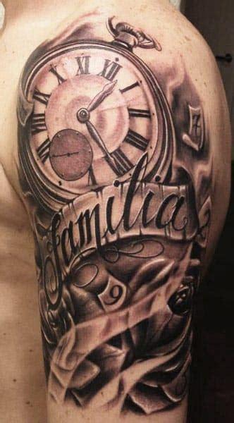 familia banner  clock tattoo  carl grace