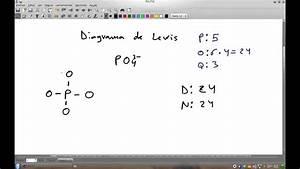 Diagrama De Lewis Del Ion Fosfato Po4 3-