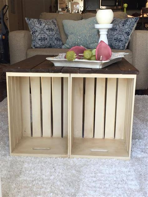 diy pallet  crate coffee table  pallets