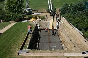 Stavba bazenu postup