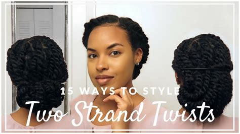 15 Ways To Style Two Strand Twists For Work, School, Or